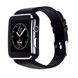 pcjob Smart Watch Smartwatch X6 Bluetooth Orologio Cellulare GSM SIM per SMARTPHONE ALCATEL, XIAOMI, MEDIACOM, MEIZU, COLORE NERO