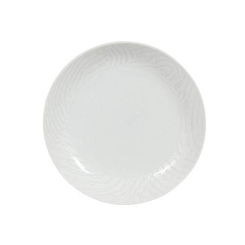 Novastyl Assiette Design Creuse en Porcelaine Blanche (Lot de 6) Empreinte