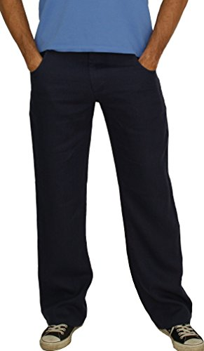 Perano 101–38 - Pantaloni da uomo in 100% lino, colori: