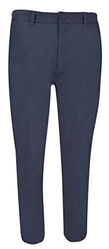 Nautica Herren Flat Front Slim Fit Twill Chino Marina Stretch Pant Hose, Navy, 42W / 30L (Nautica Hose)