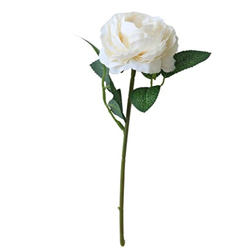 Künstliche Blumen, siconght 1pc Fake Seide Phantom Rosen mit Blättern Bridal Bouquet Wedding Party Home Xmas Decor (Phantom Bouquet)