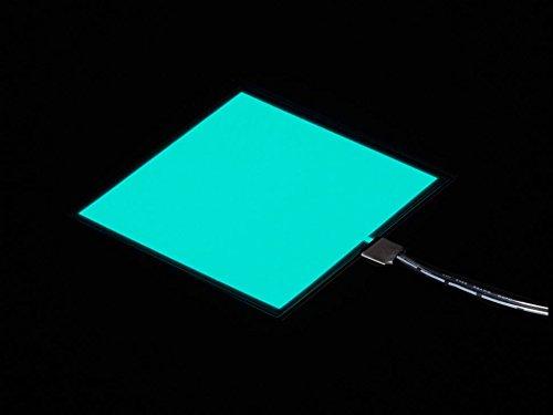 Adafruit Electroluminescent (EL) Panel - 10cm x 10cm Aqua [ADA623] -
