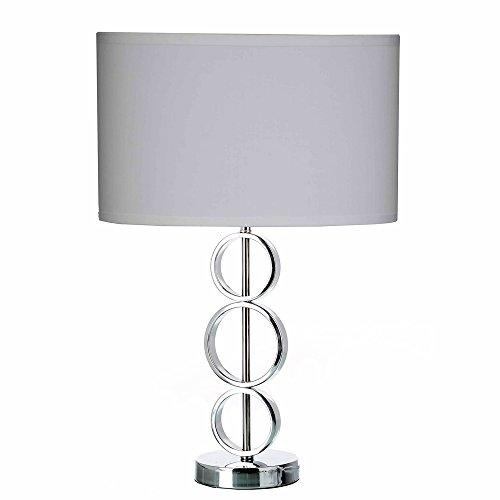 Lámpara de sobremesa minimalista blanca de metal para salón Fantasy - Lola Home