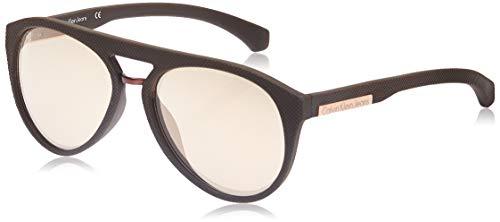 Calvin klein jeans round eye occhiali da sole, marrone (espresso), 56 unisex-adulto