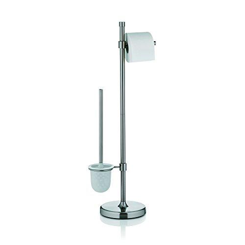 Kela 20118, WC-Bürstentopf und Papierhalterung, Toilettengarnitur, Metall, Wega, 79cm, Silber Matt