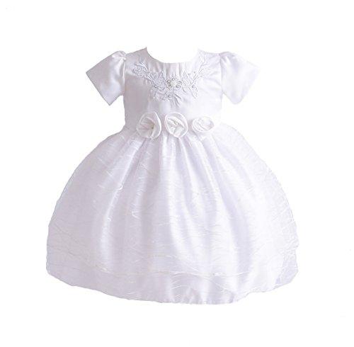 Cinda Baby Mädchen weiß Bestickt Taufe Kleid Partykleid 68-74