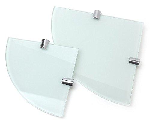 eckregal bad glas Eckregale, weiß 6mm gehärtetem Glas–2Einlegeböden–150mm und 200mm
