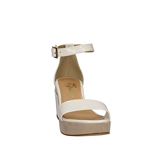 GRACE SHOES 9978 Sandalo tacco Donna Platino