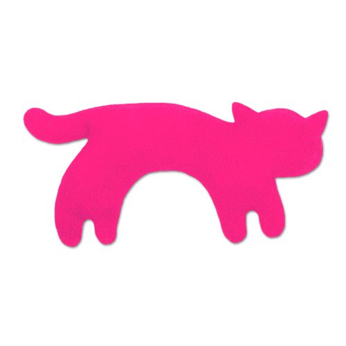 Wärmekissen, Die Katze Minina, klein. Fellfarbe: Flamingo/Mitternacht