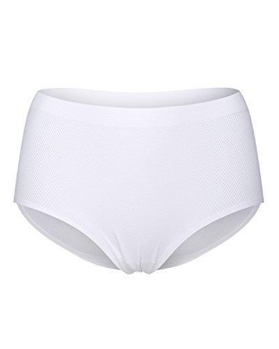 KissLace Damen Maxi Slip Panty Große Größen Unsichtbare Nahtlose Dehnbare Bequeme Unterhose Hipsters Weiß