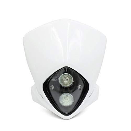 Projecteur Lumière carénage blanc12V 18W Moto Dirt Projecteur Plastique