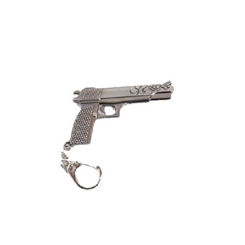 porte-cles-type-colt-45-metal-argent
