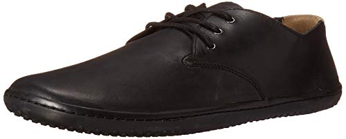 VIVOBAREFOOT Herren Durchgängies Plateau Pumps, Black/Hyde, 41 EU Oxford Lace Up Pump Schuhe