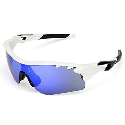 Amody Brille Halb-Frame Riding Gläser Draussen Sports Sonnenbrillen Reiten polarisierte Brillenbrillen Weiß