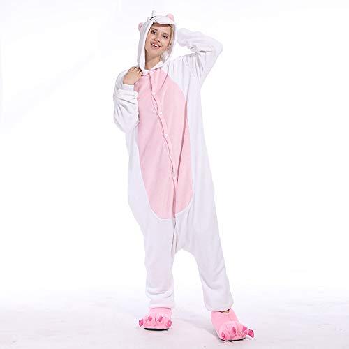 Vokaer Unicorn Jumpsuit Flannels Pyjamas Erwachsene Unisex Haustiere Cosplay Halloween Christmas Party Kostümfest,Powderunicorn,S (Sehr Schnelle Und Einfache Halloween-kostüme)