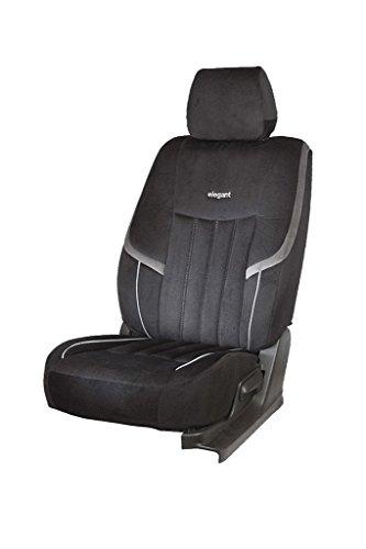 Elegant Velvet King Black Fabric Car Seat Cover for Mahindra KUV 100 K8