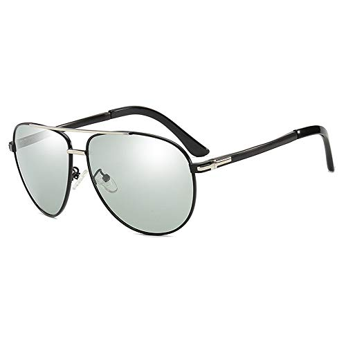 Sonnenbrillen Unisex-UV-Brillen, UV400-Objektiv-Sonnenbrillen für Damen Damen Fashionwear Pop Sun Eye Glas Outdoor, Fahren, Angeln (Farbe : Silber)