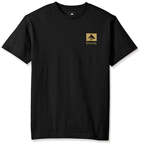 Emerica Herren Brand Combo T-Shirt, schwarz/Gold, Mittel