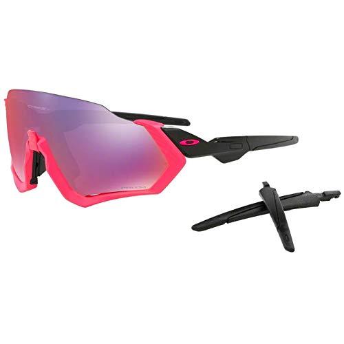 Oakley occhiali da sole flight jacket oo 9401 neon pink/prizm road uomo