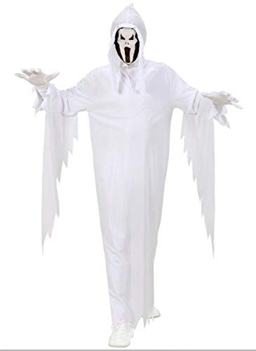Größe 128-5 - 7 Jahre - Kostüm - Cross Dressing - Karneval - Halloween - Ghost Casper - Weiße Farbe - Unisex - - Casper The Ghost Kostüm