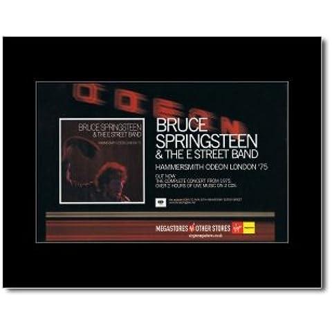BRUCE SPRINGSTEEN - Hammersmith Odeon 1975 - 21 x 13,5 cm minipóster enmarañado