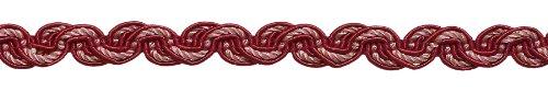 Rot, Light Rose barock Collection Gimp Braid 1/5,1cm Stil # 0050bg Farbe: Rose Bouquet-7953(Verkauft von der Hof) -