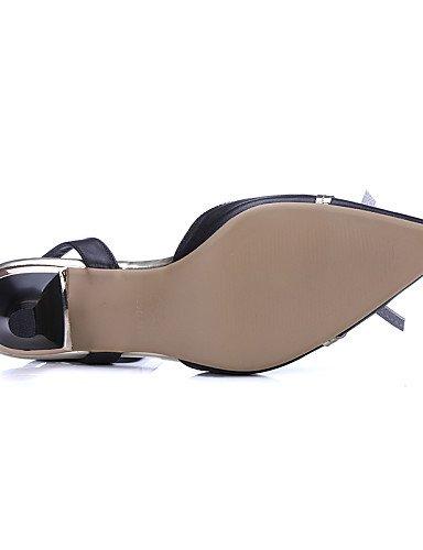 UWSZZ IL Sandali eleganti comfort Scarpe Donna-Scarpe col tacco-Ufficio e lavoro / Formale / Casual-Tacchi / Comoda / Innovativo / Con cinghia / Alla schiava / A punta / almond