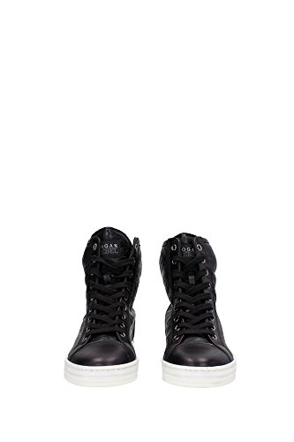HXW1820D6619FQB999 Hogan Sneakers Damen Leder Schwarz Schwarz