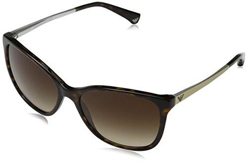 Emporio Armani Unisex 502613 Sonnenbrille, Mehrfarbig (Dark Havana), Medium (Herstellergröße: 55)
