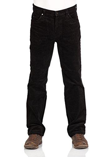 Mustang Herren Cordhose Tramper - Straight Fit - Schwarz - Black, Größe:W 32 L 32, Farbe:Black (4142)