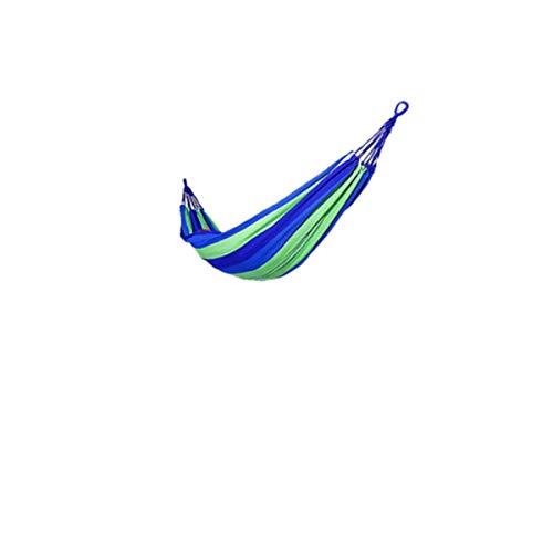 Xingganglengyin Hängematte, Einzel-Segeltuchbett aus Federn im Freien, verbreiterte verdickte Innen-Schlafzimmer-Hängematte, Schlafsaal-Einzelschaukel, blau (Color : Blue) (Blau-schlafzimmer-hängematten)