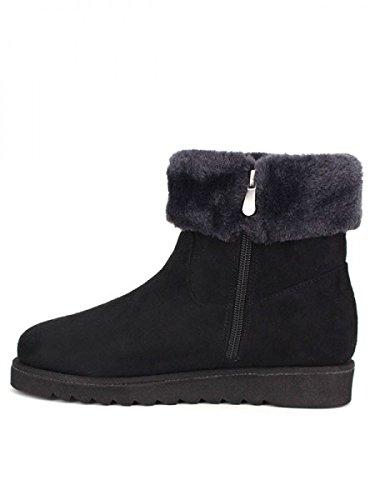Cendriyon, Bottine Noire Peau Simili WEIDE Chaussures Femme Noir