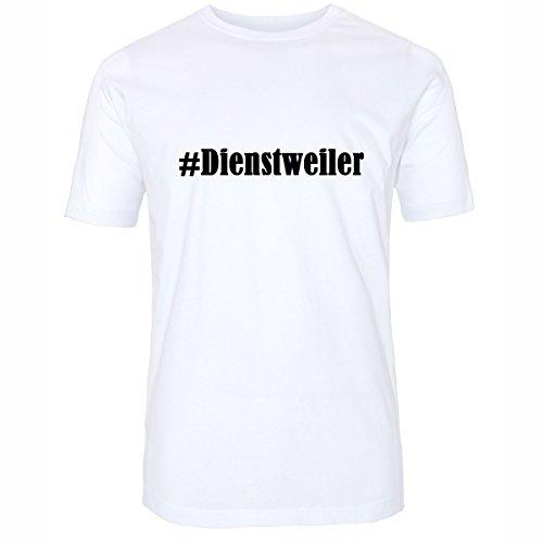 T-Shirt #Dienstweiler Hashtag Raute für Damen Herren und Kinder ... in den Farben Schwarz und Weiss Weiß