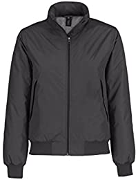 B&C Collection Women's Cotton Middleweight Padded Crew Bomber Jacket Dark Grey/Warm Grey Lining M