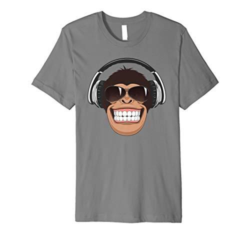 Frecher Affe mit Flieger-Sonnenbrille Musik Kopfhörer Tee -