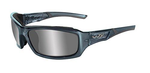 Wiley X Schutzbrille WX Echo aus der Climate Control Kollektion, Smoke Steel Blue, M-L, CCECH01