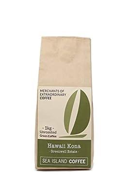 Sea Island Coffee Hawaiian Kona, Unroasted Raw Green Coffee Beans (1kg Bag) by Sea Island Coffee