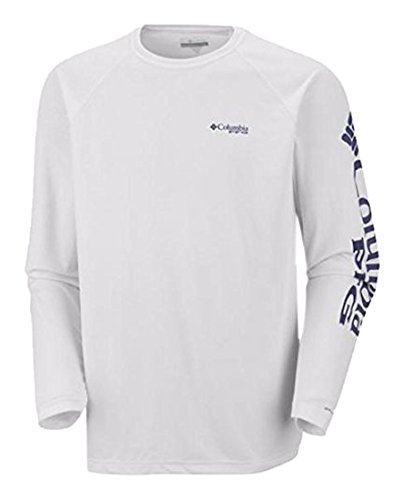 Columbia Sportswear FM6112da uomo terminal Tackle LS polo White, Nightshade Logo