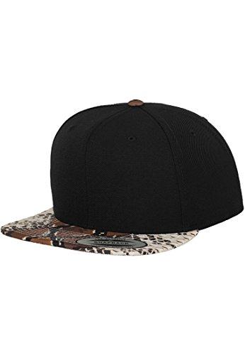 URBAN CLASSICS FLEXFIT PRINTED SNAPBACK TIERMUSTER CAP HERREN FRAUEN UNI BASECAP, Farbe:black/cobra