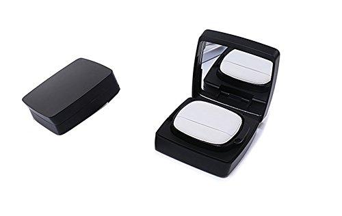 15 g 15 ml vide air Coussin étui carré noir maquillage houppette Poudre Boîtes Pot Teint liquide Récipient cosmétique avec coussin d'air éponge houppette et miroir pour DIY BB/CC Crème