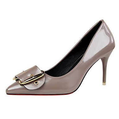 Moda Donna Sandali Sexy donna tacchi inverno abito Comfort Stiletto Heel fibbia nero / viola / rosso / argento / grigio chiaro / Beige / a piedi Borgogna gray