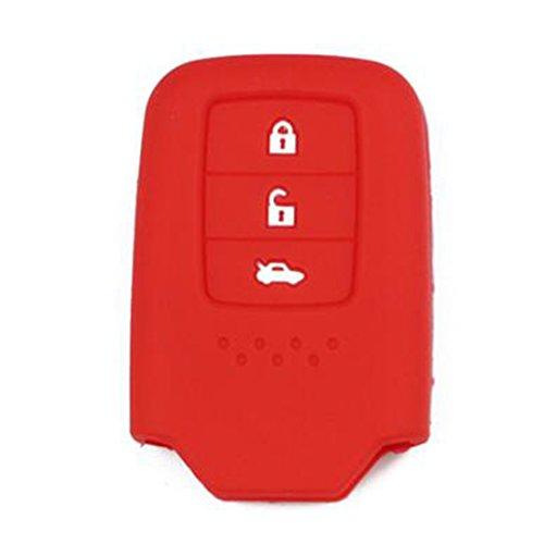 Sac à clés ensemble triples liaisons en silicone pour Nissan voiture-Rouge