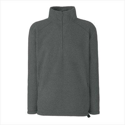Neck Fleece Pullover (Fruit of the Loom - Outdoor Fleece Zip Neck /Half XXL,Smoke)