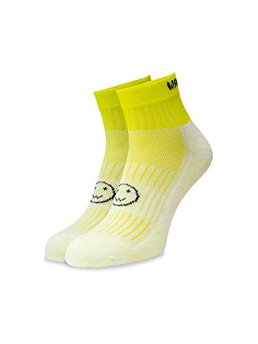 WackySox Flo Yellow Ankle Running Sports Socks