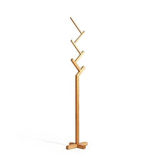 LYM Stehender Huthänger Mantel Hut Rack Holz Stand, Hall Baum mit 6 Haken Display Ständer Einfache Montage von Mantel Regale ( Farbe : C , größe : 30*40*187CM )