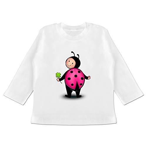 Tiermotive Baby - Marienkäfer - 3-6 Monate - Weiß - BZ11 - Baby T-Shirt ()