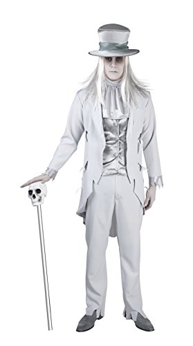 Sarg Halloween Kostüme (Fancy Ole - Herren Männer Geister Bräutigam, Kostüm, Halloween, Weiß, Größe)