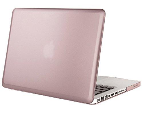 MOSISO MacBook Pro 13 Custodia Copertina (Non-Retina) - Plastica Custodia Rigida Caso Solo per Vecchio MacBook Pro 13 Pollici con CD-ROM (Modello: A1278, Versione anticipata 2012/2011/2010/2009/2008), Oro Rosa