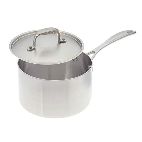 American Küche Kochgeschirr 3-quart Edelstahl Topf mit Bezug; Tri-Ply Edelstahl; Hergestellt in USA (Keramik-pfanne, Made Usa In)