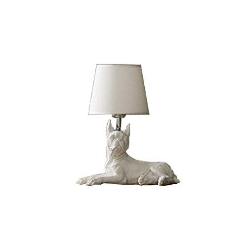 LEI ZE JUN UK- Nordic Denmark Rétro chambre à coucher lit à la chaise créative salle d'étude décoration lumière salle des enfants puppy lampe lampe de table (Couleur : F)